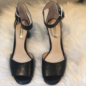 Louise et Cie Black Block Heeled Sandals